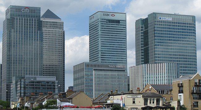 Canary Wharf banks