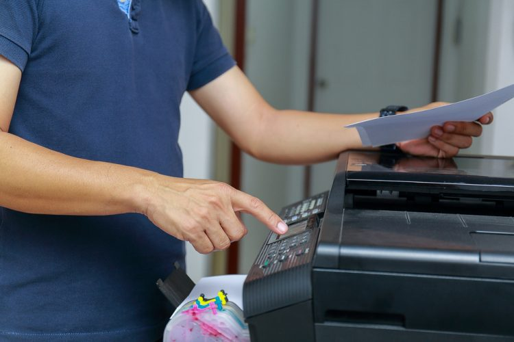 photocopier paper in office