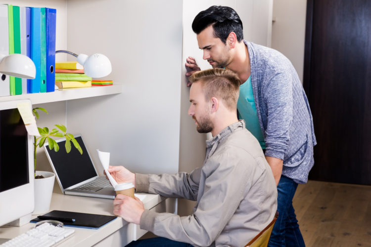 gay couple at office