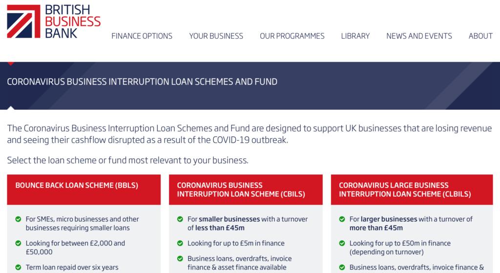 Bounce Back Loan application
