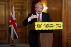 Boris at podium