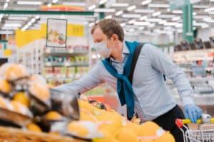 Covid in supermarket