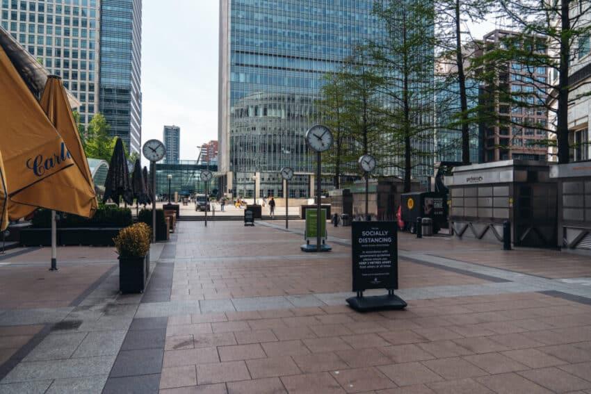Empty Canary Wharf - Covid 19