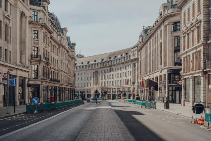 Empty Regent Street