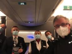 Tim Ringo with BA Flight crew