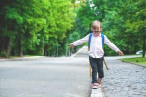 Child on pavement