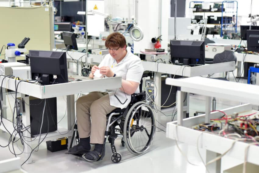 disabled worker