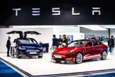 Tesla Car showroom