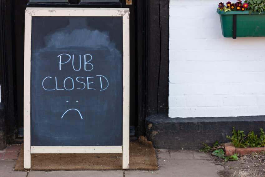 Pub closed