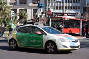 google mapping car