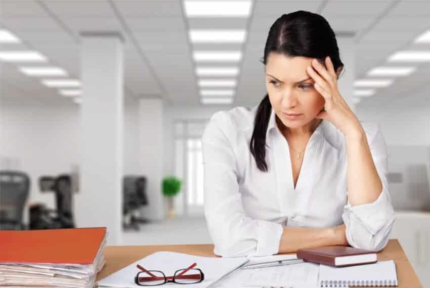 worried freelancer