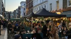 open air dining in soho