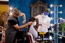Hairdressers in covid