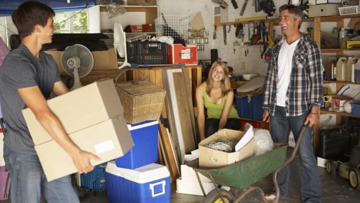 clearing garage