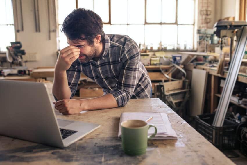 Stressed SME owner