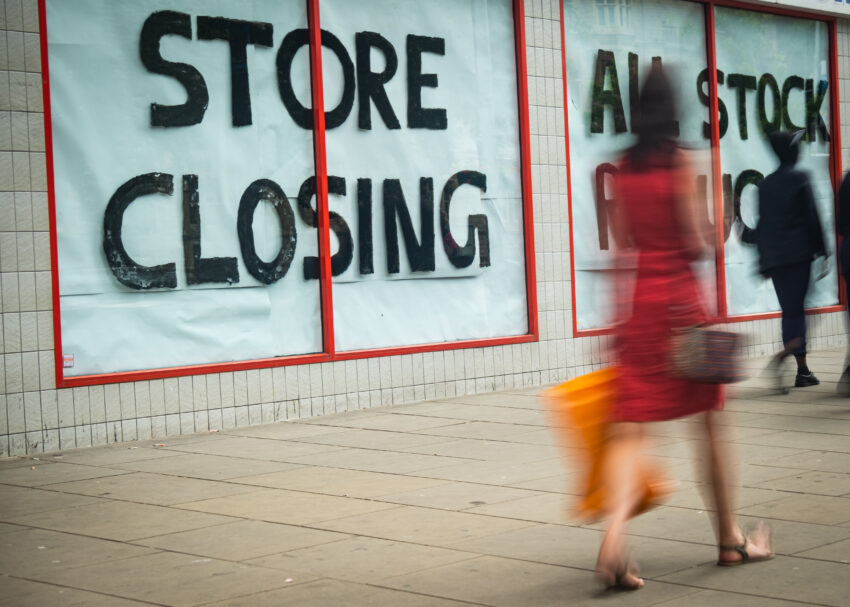 More commercial stores close as retail recovery stutters