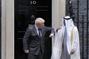 Boris and Prince Mohammed bin Zayed al-Nahyan