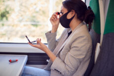 makeup on train