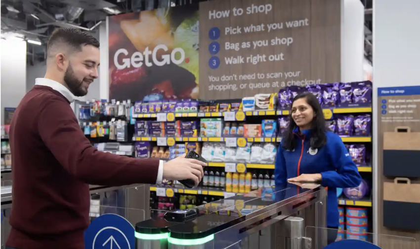 """Tesco is fighting back against Amazon with its first """"just walk out"""" store, where it is possible to buy groceries without having to scan items or visit a till."""